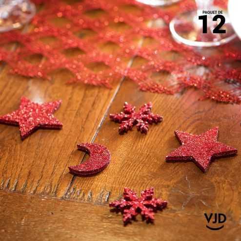 12 confettis assortiment constellation rouge