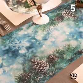 Chemin de table Noël givré 5 mètres