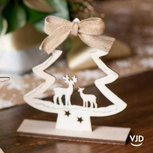 Décoration sapin de Noël 12,5 cm. En bois