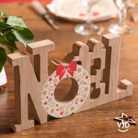 Décoration lettres Noël 24 cm