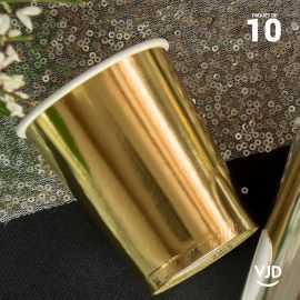 10 Gobelets carton or brillant 20 cl