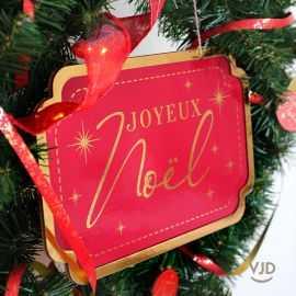 Suspension rouge Joyeux Noël 30 cm