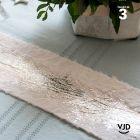 Mini-Chemin de table blanc éclat fourrure argent 3 mètres