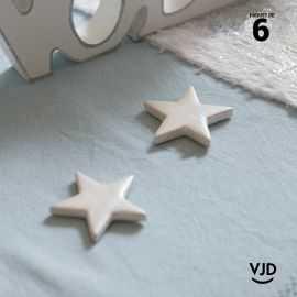 6 étoiles métal irisé décoratives