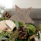 Suspension étoile pailletée en bois
