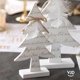 Décoration Sapin message de Noël blanc 21,5 cm