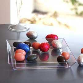 Plateaux carrés transparents petit modèle