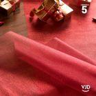 Chemin de table organdi métallisé rouge 5 mètres