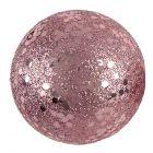 10 boules pailletées rose gold