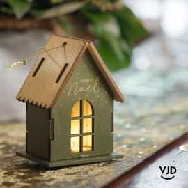 Décoration maison lumineuse avec socle kaki 9 cm