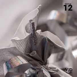 12 mini-pinces en bois argent pailletées, 2,5 cm