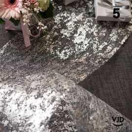 Chemin de table fantaisie brillant argent. 5 mètres