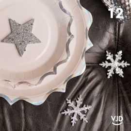 12 confettis assortiment constellation argent