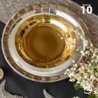 10 assiettes rondes argent brillante 26 cm
