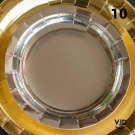 10 petites assiettes rondes argent brillante 18 cm