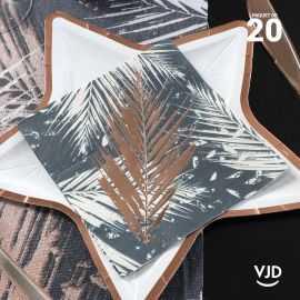 20 Serviettes papier Noël Tropical 12,5 X 12,5 cm.