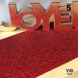 Chemin de table paillettes rouge. 5 mètres