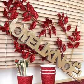 Lettres Joyeux Noël or 30 cm