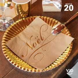 20 Serviettes papier Il était une fois Noël 16,5 X 16,5 cm.