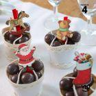4 pinces en bois Père Noël, 5 cm