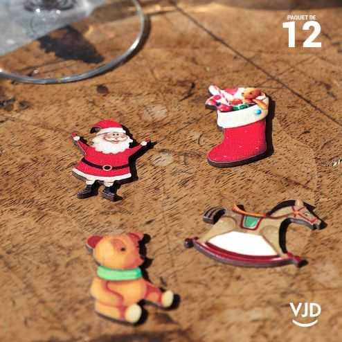 12 confettis assortiment Noël