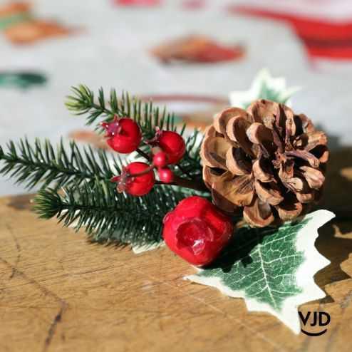 Décoration Branche traditionnelle 12 cm