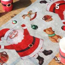 Chemin de table Père Noël. 5 mètres