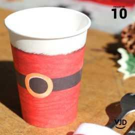 10 Gobelets Père Noël 20 cl