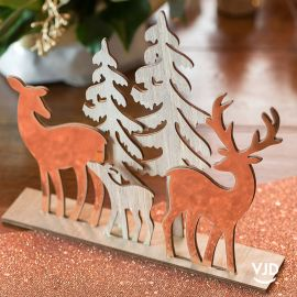 Décoration Le cerf, la biche, le daim rose gold 20 cm