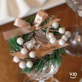 Marque-place Noël traditionnel avec cordon 5 cm