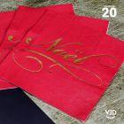 20 Serviettes papier rouges Il était une fois Noël 16,5 X 16,5 cm.