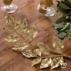 Décoration branche pailletée or 80 cm