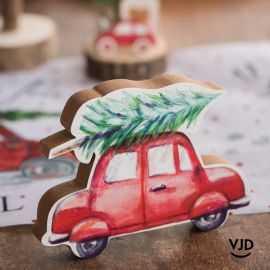 Suspension La voiture de Noël 15 cm.