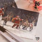 20 Serviettes papier Traineau du Père Noël 16,5 X 16,5 cm.