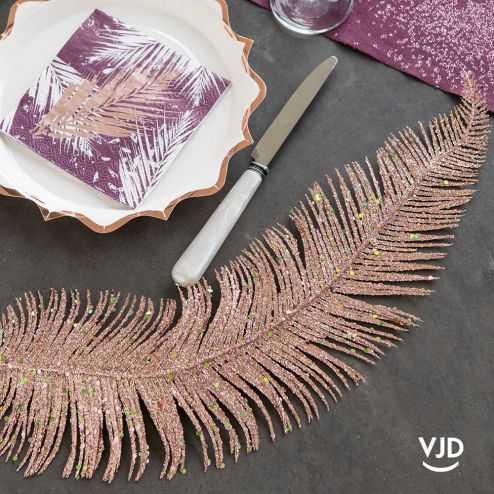 Décoration Feuille métal rose gold 48 cm