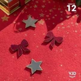 12 confettis assortiment Cadeaux de Noël rouge