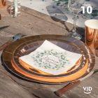 10 assiettes de fête, carton rose gold métalisées.