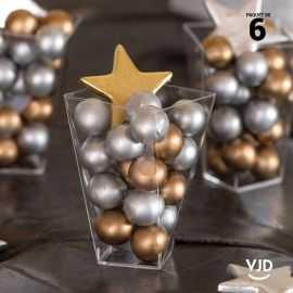 6 étoiles métal doré décoratives