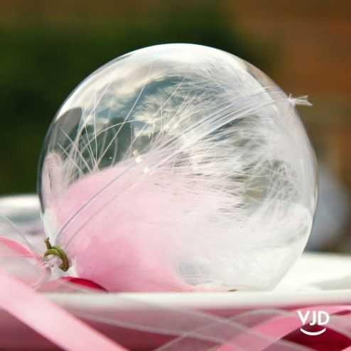 40 boules transparentes 12 cm
