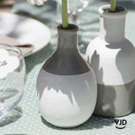 Vase en verre blanc 16 cm