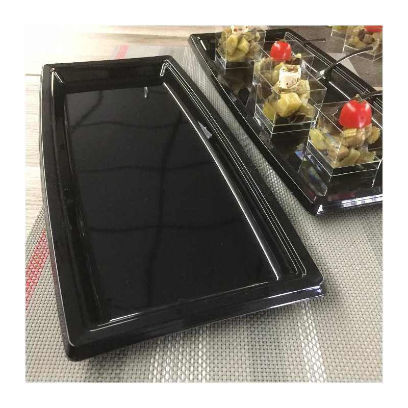 plateau plastique rectangulaire noir vaisselle jetable. Black Bedroom Furniture Sets. Home Design Ideas
