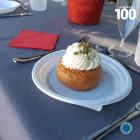 100 Assiettes dessert rondes blanches 17cm