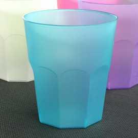 6 Verres cocktail turquoise 31 cl. Lavables - Réutilisables.