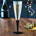 Pack 20 gobelets coeur de Noël + 20 Flûtes noires premium