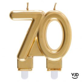 Bougie double âge or brillant 70 ans