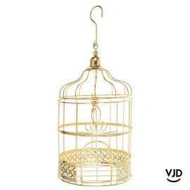 Tirelire cage métal or 24 cm