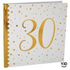 Livre d'or blanc et or effet métallisé 30 ans. 24 cm x 24 cm