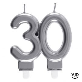 Bougie double âge argent 30 ans