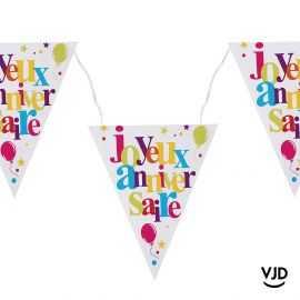 Banderole 3 mètres Anniversaire festif multicolore