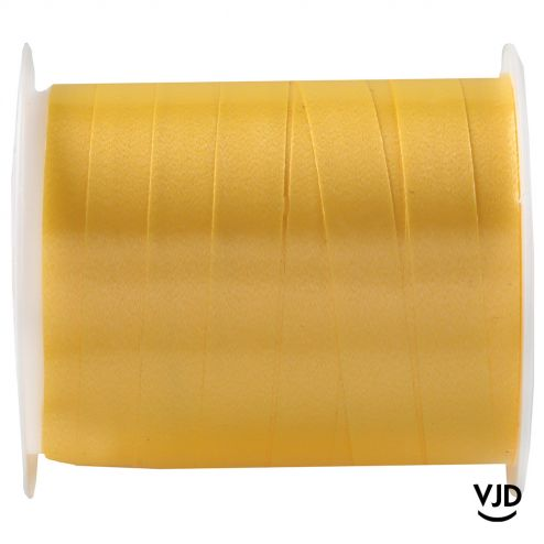Bolduc uni couleur jaune. Bobine 10 mètres